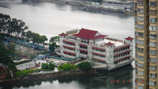 Courtyard Hong Kong Sha Tin : Room of floating restaurant