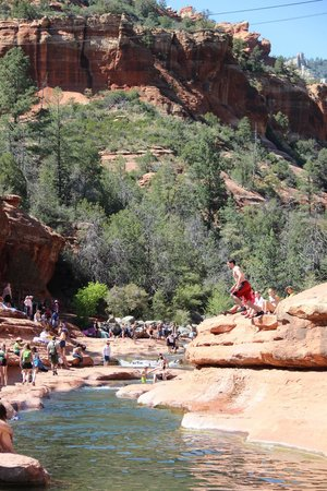 Slide Rock State Park: jumping in