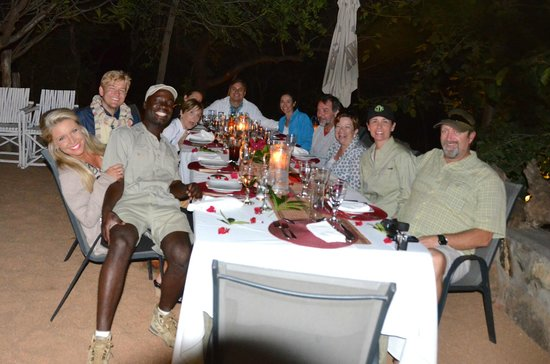 Ezulwini Game Lodges: Great guests and staff!  We miss you Lorence!  BBQ night