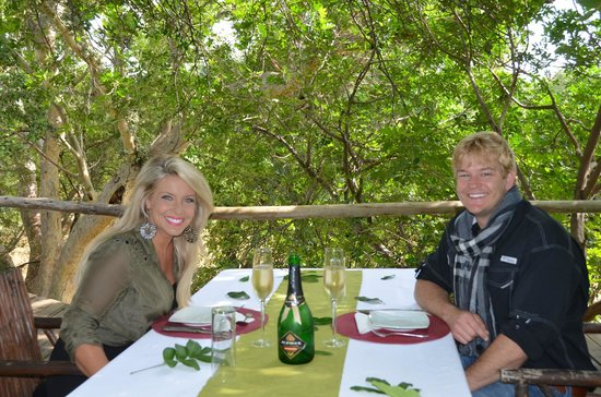 Ezulwini Game Lodges: Surprised by Josh and Abby with a private champagne brunch overlooking the river @ River Lodge