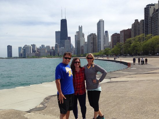 Bobby's Bike Hike Chicago : With our new friend Sarah!