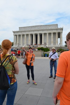DC by Foot: Start of Lincoln Memorial