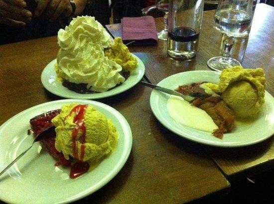 Les profiteroles et autres desserts!