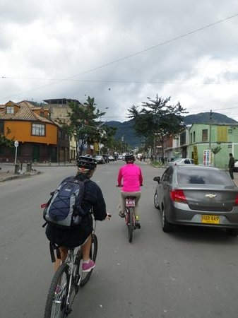 Bogota Bike Tours: Cycling through the streets of Bogota.
