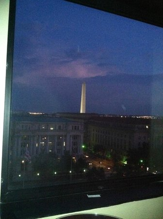 JW Marriott Washington, DC: This is one of the times I stayed here....not a great photo, but it is a great view.