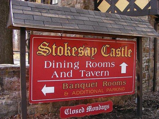 Stokesay Castle: Stokesay Castle Sign
