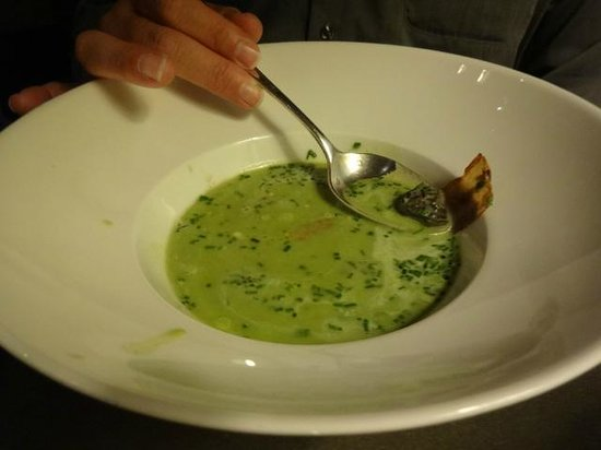 Allegro Moderato: One of the best soups I have ever had. Watercress, bacon and escargot.