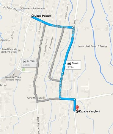KajaNe Yangloni: this is Expedia's map, which shows the hotel to be far from town!
