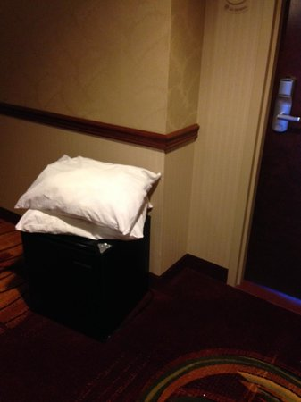 Cleveland Marriott East: A refrigerator in the hall by another room, after they checked out.