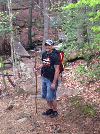 Mount Chocorua : On the way up Tough Mudder style!