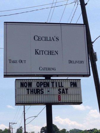Cecilia's Kitchen: Sign