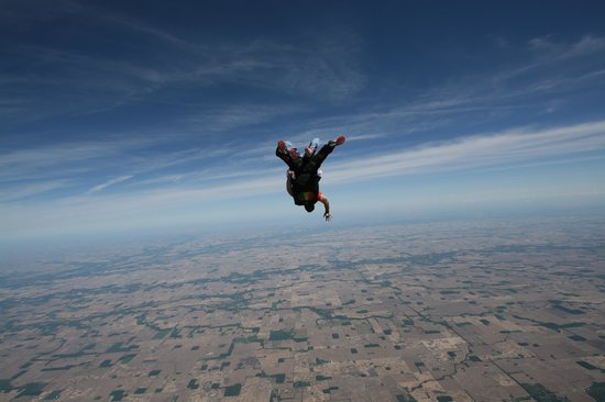 Skydive Indianapolis: UPSIDE DOWN