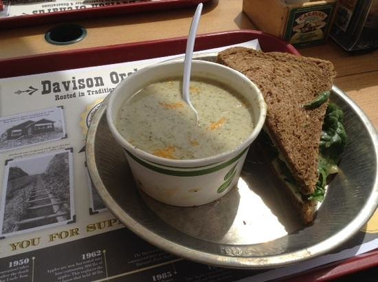 Davison Orchards Country Village : soup and sandwich special