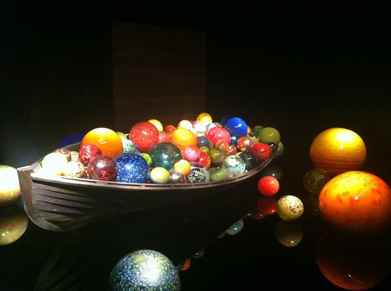 Chihuly Collection: Boat with glass balls