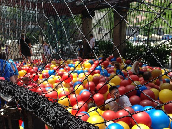 City Museum: huge outdoor ballpit - great for even the big kids (like Daddy)