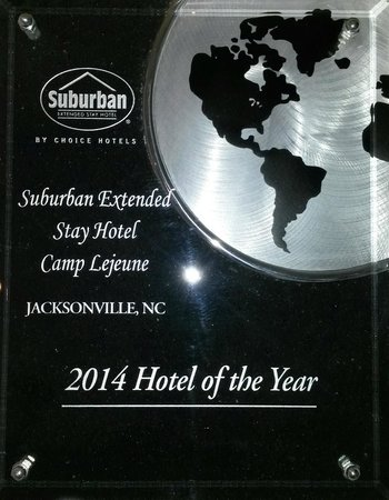 Suburban Extended Stay Hotel Camp Lejeune: 2014 Hotel Of The Year