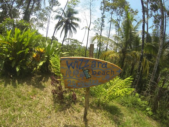 Up in the Hill - Coffee Shop & Organic Farm: signs to get to the beach