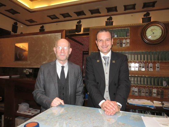 Hotel Saturnia & International: Front desk ~ I  just love these gentlemen !