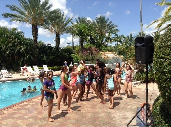 Vacation Village at Weston : kids dance event at Weston poolside on Memorial Day 2014