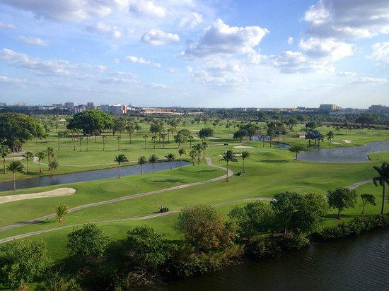 Sheraton Miami Airport Hotel & Executive Meeting Center : Beautiful golf course view