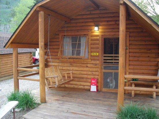 Snake River Park KOA and Cabin Village : Kabin 26. Basset Hound not included :)