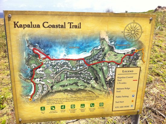 Kapalua Coastal Trail: Trail Sign