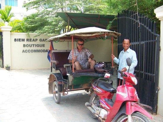 Siem Reap Garden Inn : Mr G and his tuk tuk, always on time
