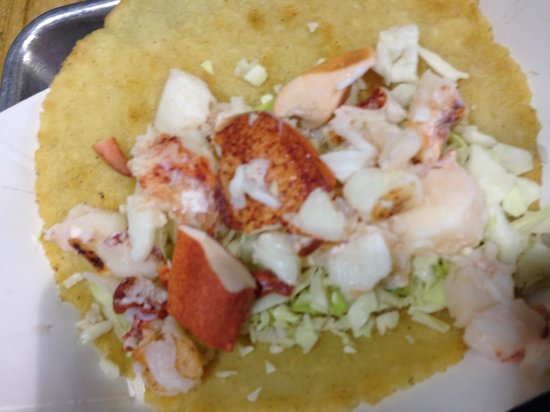 New England Lobster Market & Eatery : Lobster taco is a little too plain