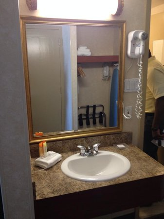 Hotel MTL EXPRESS Aéroport de Montréal : Convient sink separate from the shower and toilet for easy quick mornings