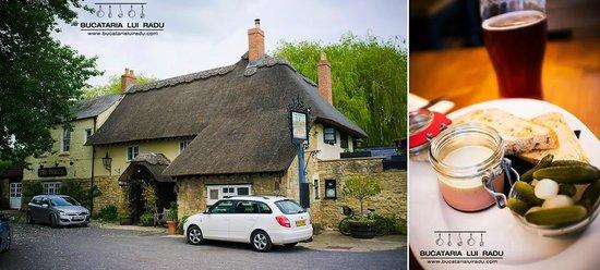 The Perch inn: The Perch Inn and chicken liver parfait.