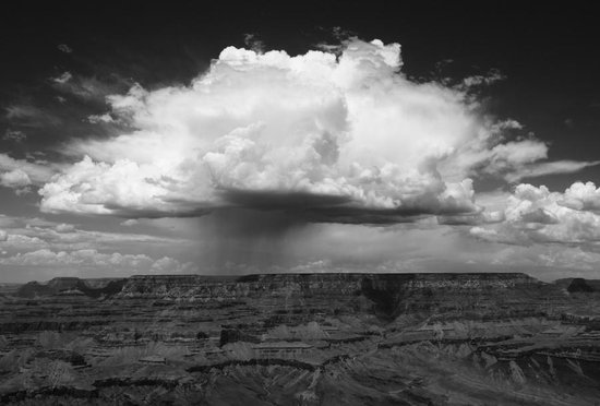 Moenkopi Legacy Inn & Suites : Thundercloud over Grand Canyon (another reason to stay at the Moenkopi)