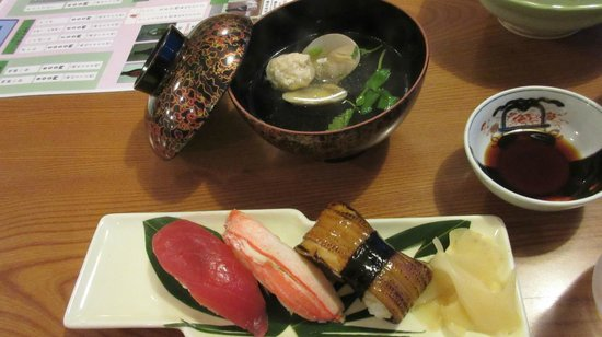 Kesennuma Plaza Hotel: Part of Dinner Service
