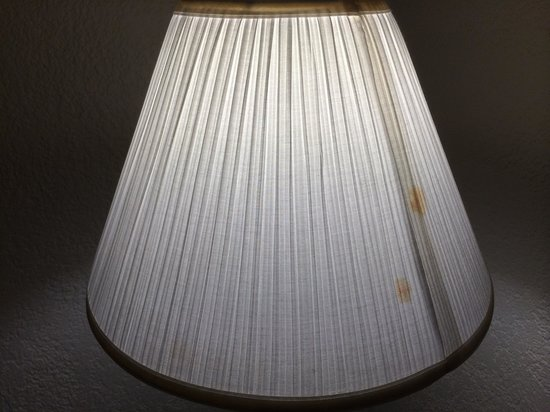 Magnuson Grand Hotel Maingate West: Stains on the lampshade.