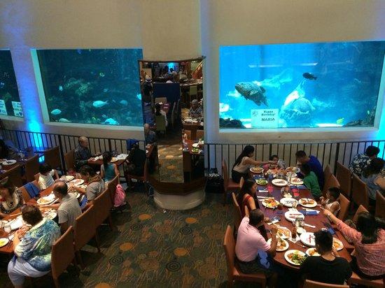Alohilani Resort Waikiki Beach : 一階のビュッフェスペース