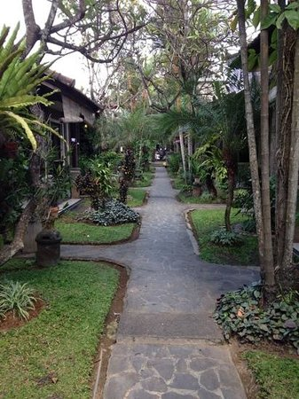 Putu Bali Villa and Spa: chemin d acces