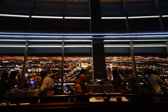 Top Of The World Restaurant And Views At Night Time