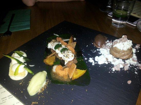 The Milestone : Sharing desserts for two ....... Yum yum