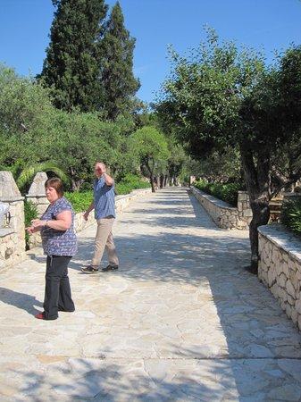 Aresti Villas: View towards the villa through the complex