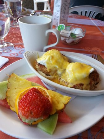 Adrienne's Tea Garden: Crab Cake Benedict