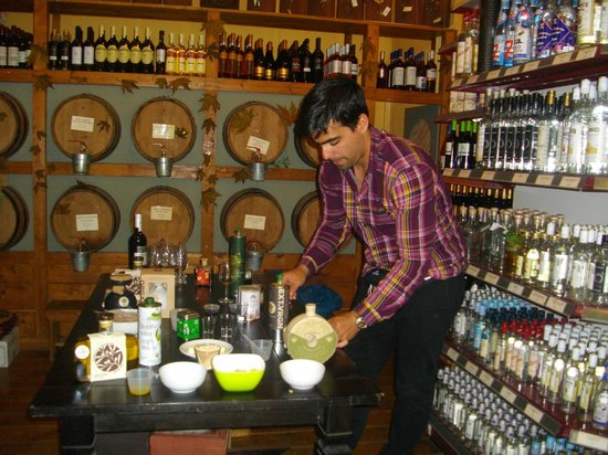 Athens Walks : Kostas introducing us to olive oil and vinegar tasting (with a little wine to add)