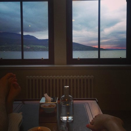 The Douglas Hotel: View sitting on couch watching sunset
