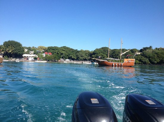 Ambre Mauritius: View from the speedboat