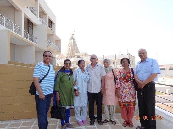 Sagar Darshan - Somnath Trust: View of Somnath temple from 1st floor galary of Reception