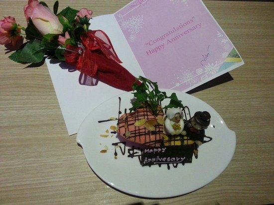 Kalima Resort & Spa: Anniversary cake