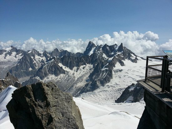 View at Aiguille du Midi