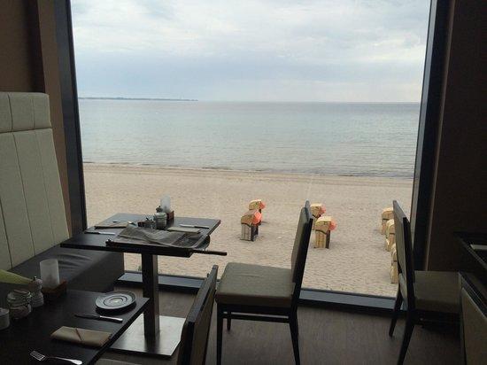 Bayside: Restaurantbereich - schöner Ausblick!