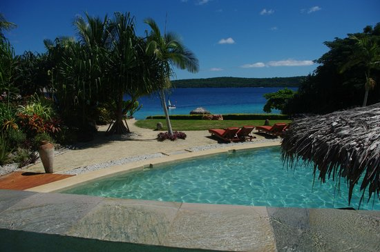 The Havannah, Vanuatu : View from our pool villa
