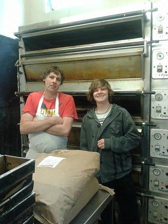 St Mawes Bakery: Patrick the Baker with Michael