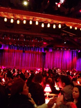 Moulin Rouge: Once everyone is seated this is how it looks before the show starts.