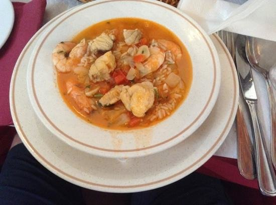 Restaurante O Alcaide : Monkfish and Prawn Seafood Rice